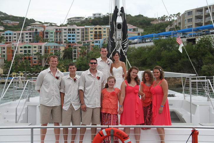 Wedding on a catamaran in st. thomas usvi
