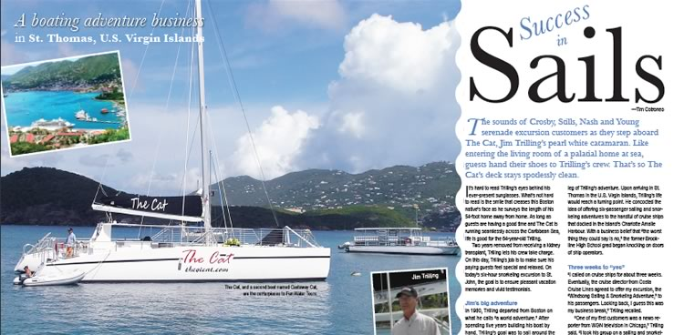 The VI Cat Sail and Snorkel in St. Thomas Virgin Islands